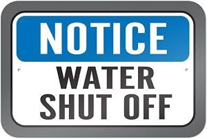 Water Shut Off Notice