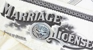 marriage license Opens in new window