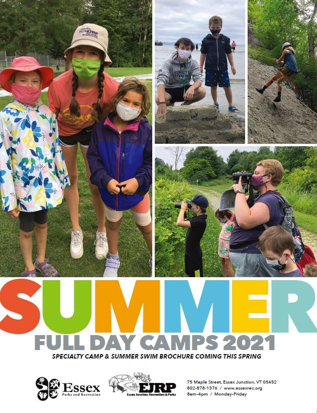 Summer Day Camps 2021 Cover